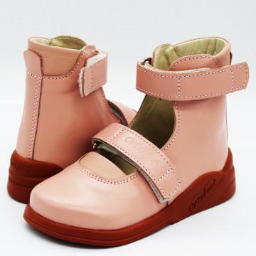 Туфли детские ортопедические Ortofoot OrtoStabil, розовые