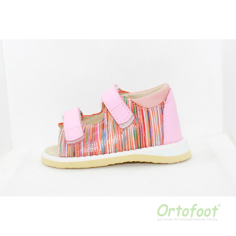 Босоножки анатомические для детей Ortofoot BabyLight,  розовая зебра